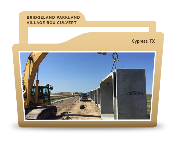 Bridgeland Parkland Village Box Culvert